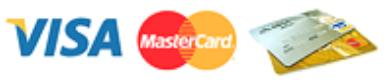 Pagos con tarjetas VISA, MasterCard y American Express