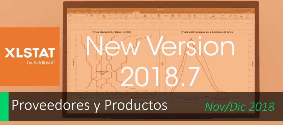 Nueva versión XLSTAT 2018.7