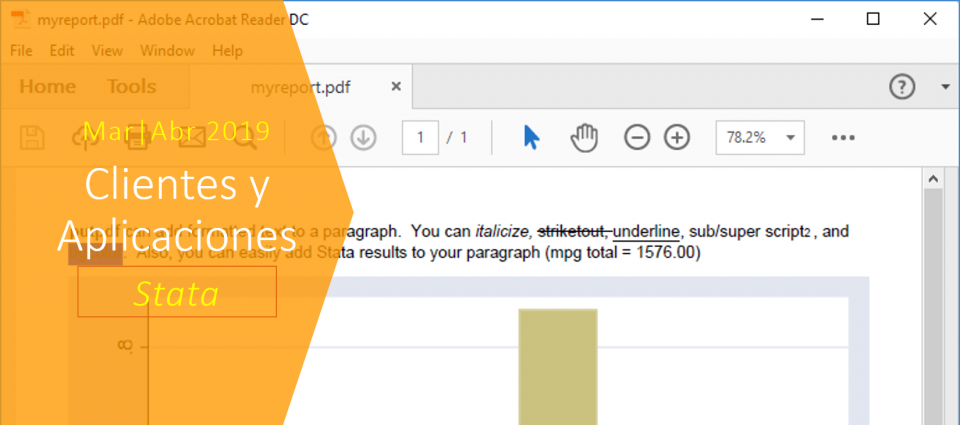 Cómo automatizar la producción de reportes PDF en Stata