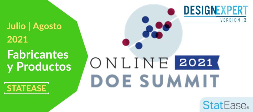 Cumbre de DOE en línea de Stat-Ease 2021
