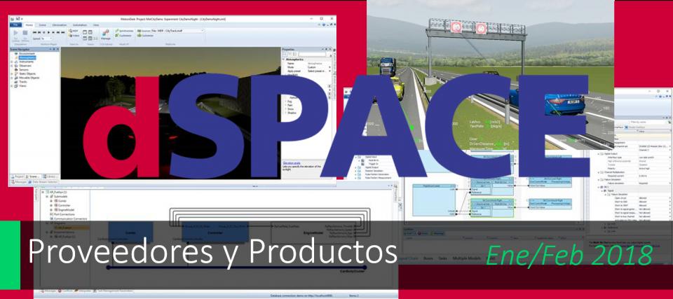 Nuevas funcionalidades en el catálogo dSPACE 2017-B