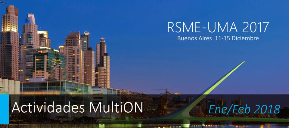 RSME-UMA 2017, Buenos Aires 2017