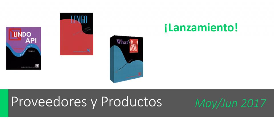 Los 3 lanzamientos de LINDO Systems: LINGO 17 / LINDO API 11 / What'sBest 15