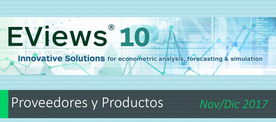 10+ Nuevas características añadidas a EViews 10