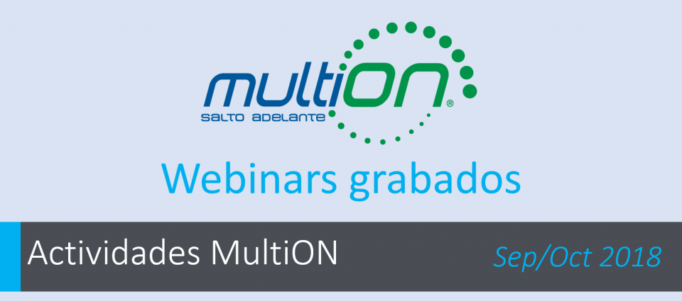 Webinars grabados MultiON