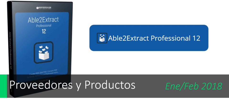 Conoce el nuevo Able2extract Professional 12.0